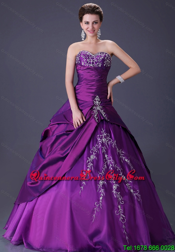 2021 Fashionable Puffy Sweetheart Quinceanera Dresses with Embroidery