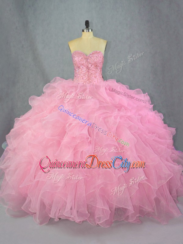 puffy pink quinceanera dress,how to make a quinceanera dress puffy,do quinceanera dress have to be pink,pinkish quinceanera dress,ball gown prom quinceanera dress,organza ruffled ball gown quinceanera dress,quinceanera dress without train,sweetheart neckline quinceanera dress,