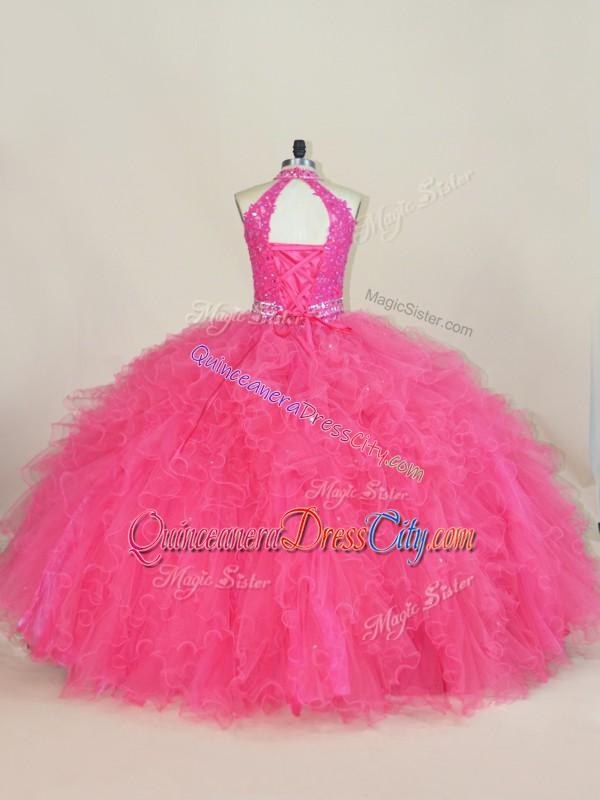 dress for quinceanera big and puffy,great gatsby 2 piece big puffy quinceanera dress,hot pink satin quinceanera dress,in hot pink quinceanera dress,halter neckline quinceanera dress,quinceanera dress with halter neckline,template cutout quinceanera dress,template cut out quinceanera dress,ruffle quinceanera dress,quinceanera dress with ruffles,keyhole back quinceanera dress,