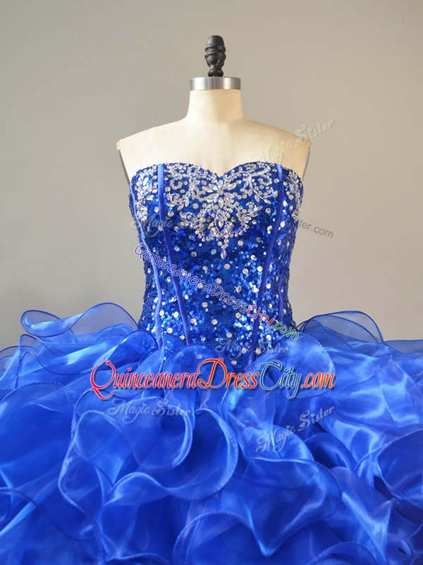 big and puffy quinceanera dress,cheap quinceanera dress royal blue,royal blue beautiful quinceanera dress,organza ruffled ball gown quinceanera dress,organza quinceanera dress ball gown long prom formal,sweetheart neckline quinceanera dress,sequin quinceanera dress,sweetheart neckline sequined bodice sweet 16 dress,royal blue beaded quinceanera dress,
