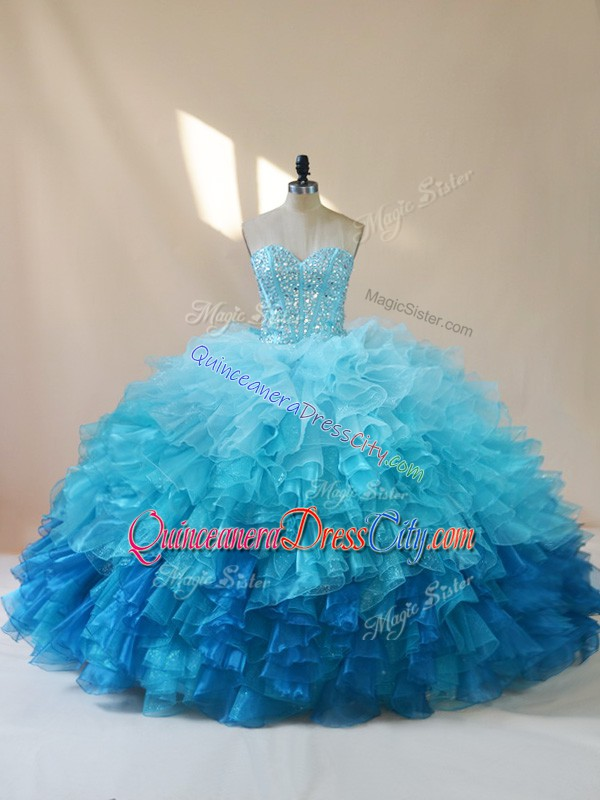 blue puffy quinceanera dress,super puffy quinceanera dress,unique quinceanera dress puffy,multi color blue quinceanera dress,quinceanera designer dress blue,big organza quinceanera dress,blue sweetheart quinceanera dress,sweetheart quinceanera dress,