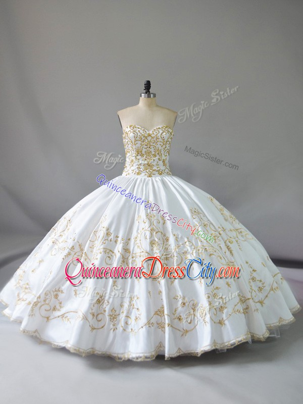 custom quinceanera dress in houston,how much does it cost to customize your quinceanera dress,white sweetheart quinceanera dress,white quinceanera dress with sweetheart neckline,all white quinceanera dress,white with gold quinceanera dress,satin fabric quinceanera dress,gold embroidery quinceanera dress,wholesale charro quinceanera dress,mexican quinceanera dress wholesale,