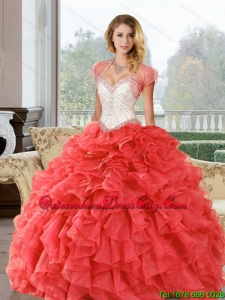 Top seller Beading and Ruffles Sweetheart Quinceanera Dresses for 2022